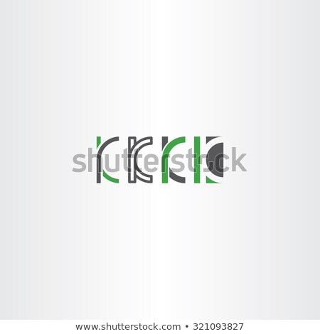 letter k set logo icon vector green gray Stock photo © blaskorizov