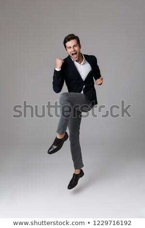 Kép boldog üzletember 30-as évek hivatalos öltöny Stock fotó © deandrobot