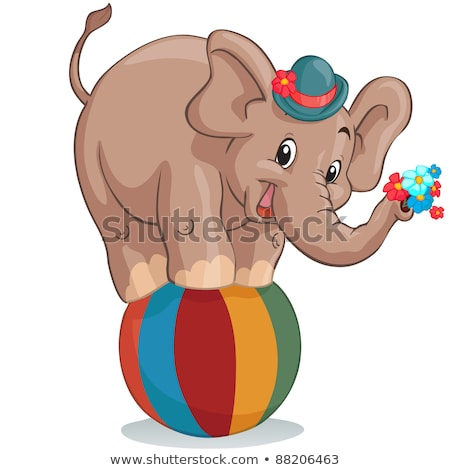 Elephant Vector. Cute African Animal. Circus. Isolated Cartoon Illustration Stock photo © pikepicture