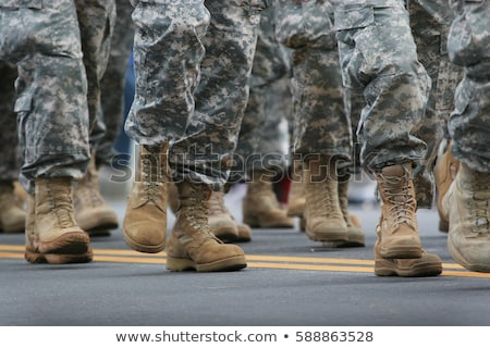 Army soldiers marching on military parade Stock photo © vapi