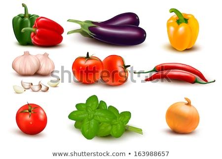 chile · pimienta · icono · blanco · vector · caliente - foto stock © robuart