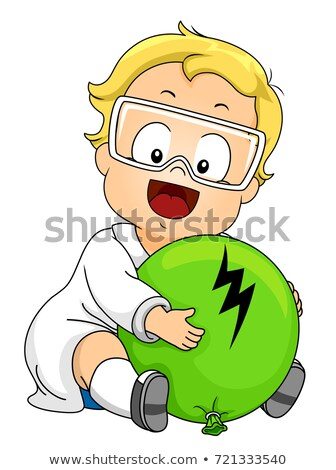 Kid Boy Toddler Static Balloon Illustration Stock photo © lenm