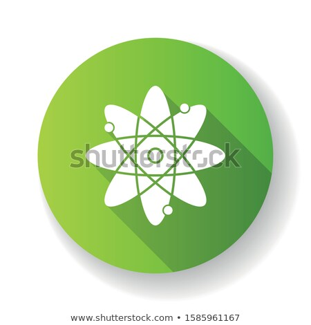 Vert atome biologie icône vecteur symbole Photo stock © blaskorizov