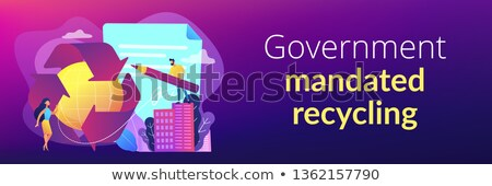 Government mandated recycling concept banner header. Stock photo © RAStudio
