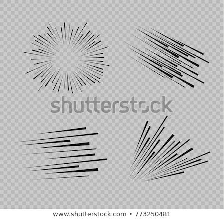 Prędkości line zestaw poziomy ruchu efekt Zdjęcia stock © Andrei_