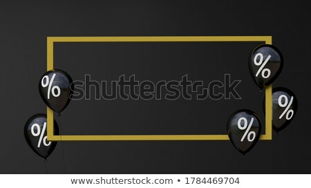 black friday helium inflatable balls sale label stock photo © robuart
