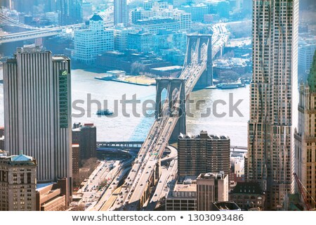 Elevated View Of Brooklyn Bridge Over East River Stock photo © AndreyPopov