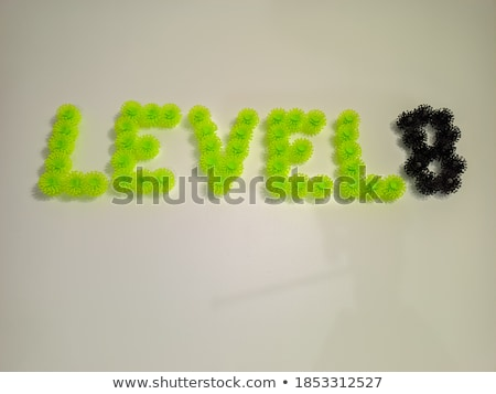Black and white layered Number 8 EIGHT 3D Stock photo © djmilic