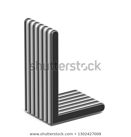 Black and white layered font Letter L 3D Stock photo © djmilic