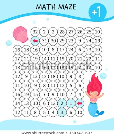 maths addition educational game worksheet Stock photo © izakowski