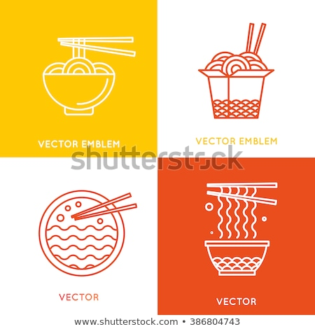 Chinese food concept icons Stock photo © netkov1