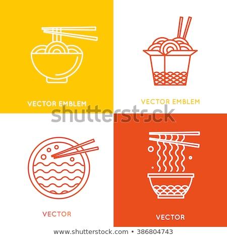 китайский продовольствие иконки реклама веб-дизайна весны ресторан Сток-фото © netkov1