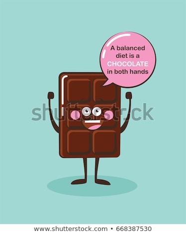 Foto stock: Chocolate · desenho · animado · ícones · saboroso · eps · 10