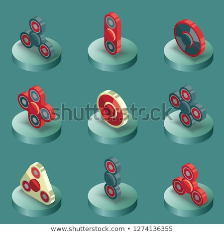 Spinners outline isometric icons Stock photo © netkov1