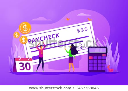 Paycheck concept vector illustration. Stock photo © RAStudio