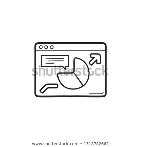 browser with pie chart hand drawn outline doodle icon stock photo © rastudio