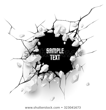 vector black and white cracked wall  Stock photo © freesoulproduction