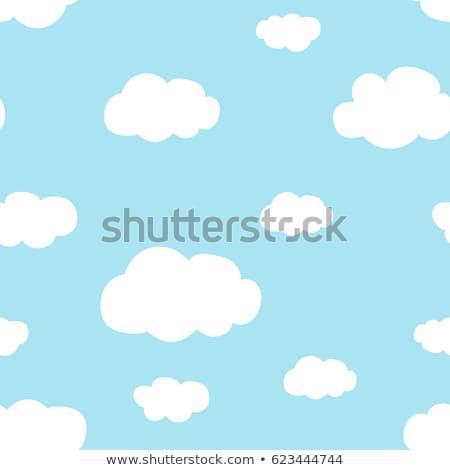 esernyők · felhők · esőcseppek · vektor · végtelen · minta · dekoratív - stock fotó © andrei_