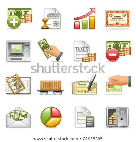 checking account credit and debit card web set stock photo © robuart