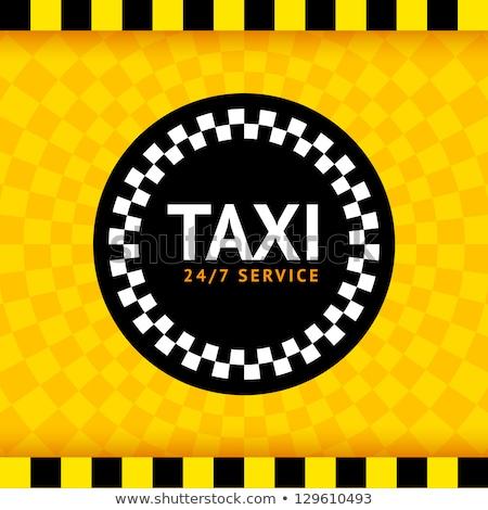 такси службе желтый ретро такси плакат Сток-фото © tashatuvango