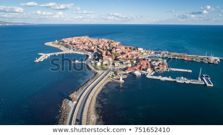 belo · ver · antigo · cidade · preto · mar - foto stock © nenovbrothers