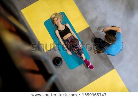 Górę widoku kobieta wsparcie osoby Zdjęcia stock © boggy