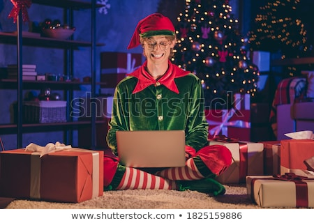 Elf and gift Stock photo © colematt