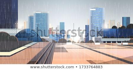 Yağmurlu gün şehir örnek gökyüzü Bina Stok fotoğraf © colematt