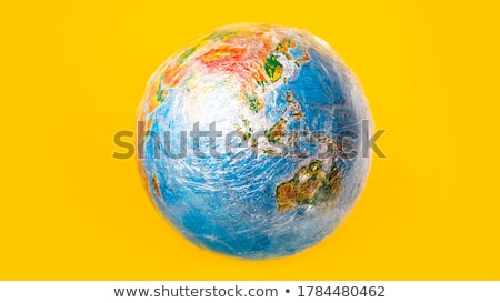 world globe wrapped in a dirty plastic Stock photo © nito