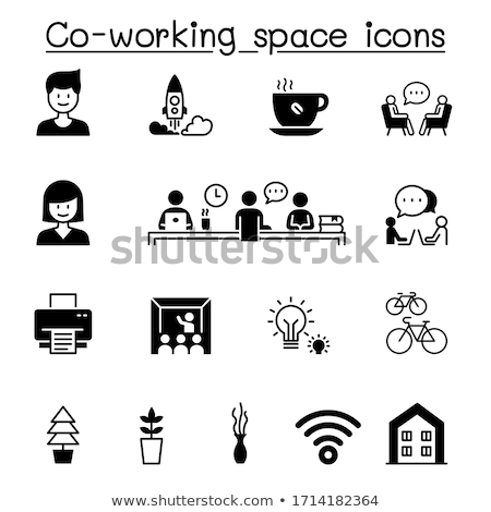 Crowdfunding or Co-Working, Business Entrepreneurs Stock photo © robuart