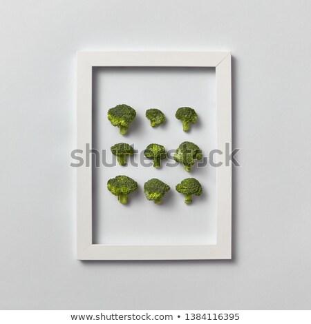 Creative modèle cadres naturelles organique brocoli Photo stock © artjazz