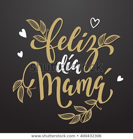 Hiszpanski matki dzień kwiatowy karty Zdjęcia stock © cienpies