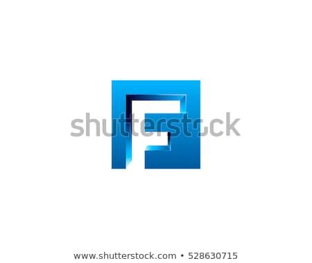 Azul gradiente letra f 3D 3d ilustración Foto stock © djmilic