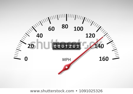 Car speedometer with speed level scale. Gauge scale. Vector Stock photo © Andrei_
