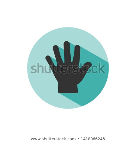 Corpo mão ícone sombra verde círculo Foto stock © Imaagio