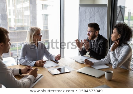 Negotiating with client Stock photo © pressmaster