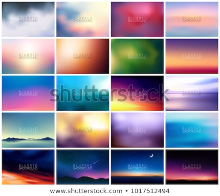 horizontal wide multicolored blurred background. Sunset and sunrise sea blurred background Stock photo © MarySan