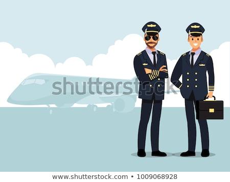 職業 パイロット 航空機 男 ユニフォーム 立って ストックフォト © jossdiim