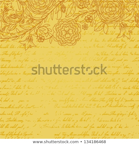 vintage invitation card with ornate elegant retro abstract flora stock photo © morphart