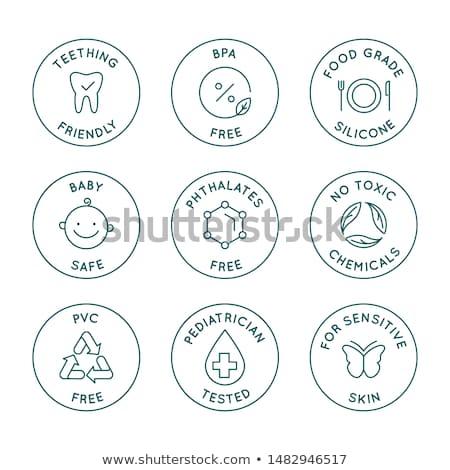vektor · szett · egészséges · bioélelmiszer · címkék · modern - stock fotó © sarts