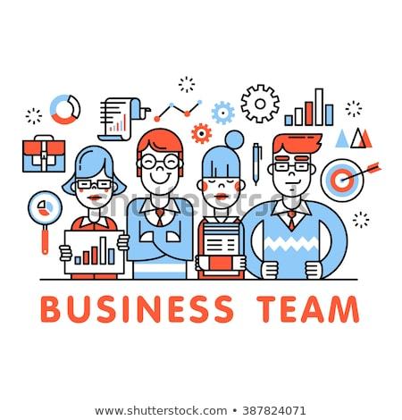 служба цель продажи бизнеса вектора искусства Сток-фото © vector1st