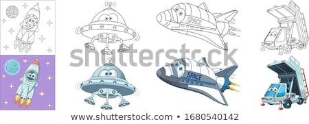 Stockfoto: Auto · schip · kleurboek · cartoon · illustratie