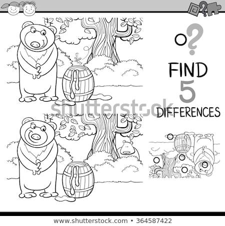 Diferenças cor livro animal Foto stock © izakowski