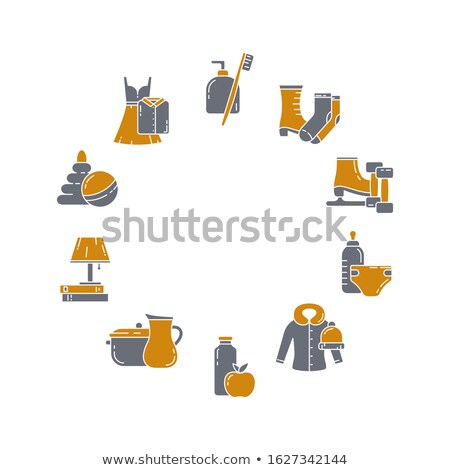 Collection of Shoes in Round Frame Banner Isolated Stock photo © robuart
