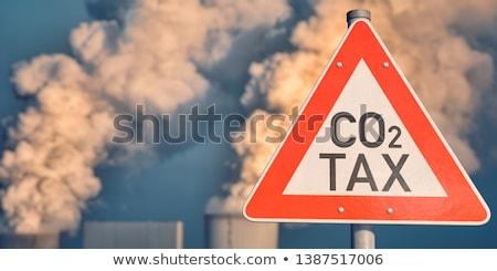 carbono · impuesto · humo · fuera · carbón · central · eléctrica - foto stock © visualdestination