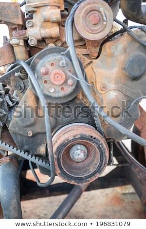 Hoofd- roestige motor metaal industrie Stockfoto © grafvision