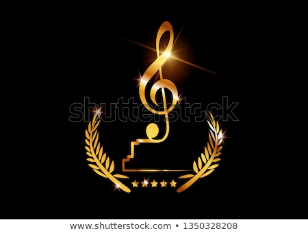 Music Gold Prize Trophies, Musical Art Awards Stock photo © robuart
