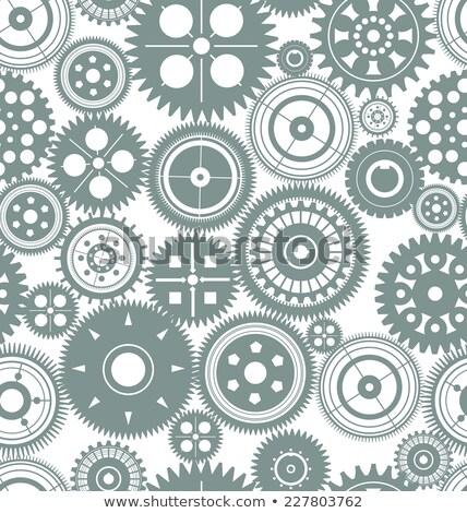 черный вектора бесшовный Gear Колеса шаблон Сток-фото © blumer1979