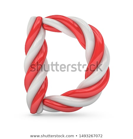 Holiday Font Letter D Isolated Stock photo © Lightsource