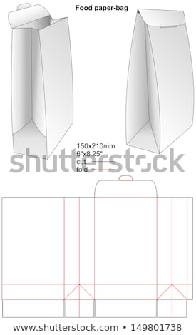 Set of blank red paper bags packaging template Stock photo © grafvision